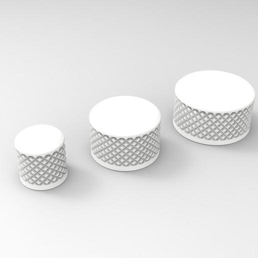 Download free STL file Knurled knob • 3D printable model, V0ID