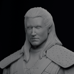 portrait.png Download STL file Geralt of Rivia - The Witcher • 3D printing design, AgustinAguirre06