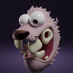 Download 3D model Courage the cowardly dog, AgustinAguirre06
