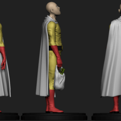Download 3D printer designs Saitama-One Punch Man, AgustinAguirre06