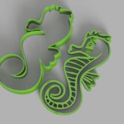 Seahorse.png Télécharger fichier STL moule à biscuit pour hippocampe • Design pour impression 3D, Calesim