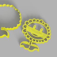 Sun Flower.png Télécharger fichier STL Plante contre fleur de soleil zombie • Design pour impression 3D, Calesim