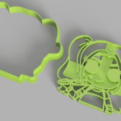 Harley Queen.png Download STL file harley queen cookie cutter • 3D print model, Calesim