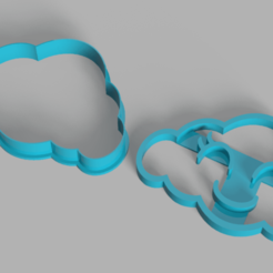 Happy Cloud.png Download STL file happy cloud cookie cutter • Template to 3D print, Calesim