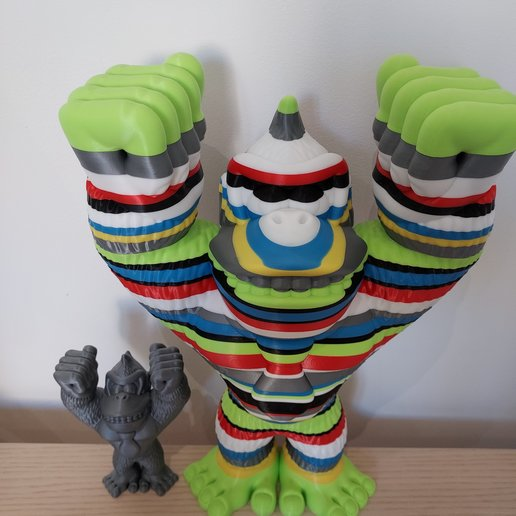 Download free STL file Donkey Kong (Easy print no support) • 3D print object, Kelu