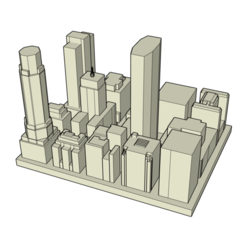 Download free 3D printing designs Manhattan Skyline MetLife Building, xKaydy