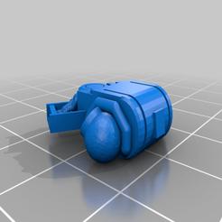 multimeltabackpack.png Download free STL file Space Jarhead Devastator Multi melta backpack • 3D printing model, Klamps91