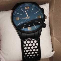 malla 2.jpeg Télécharger fichier STL Bracelet de montre universel. XL • Objet à imprimer en 3D, Feel3D