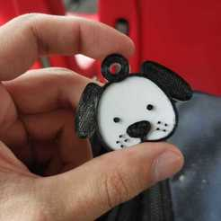 WhatsApp Image 2020-10-06 at 12.49.51.jpeg Download STL file Dog-face keychains 5 units • 3D printing object, jfetronic