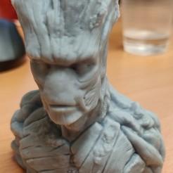 Télécharger fichier STL gratuit Groot Buste Groot Sculpture, tocans