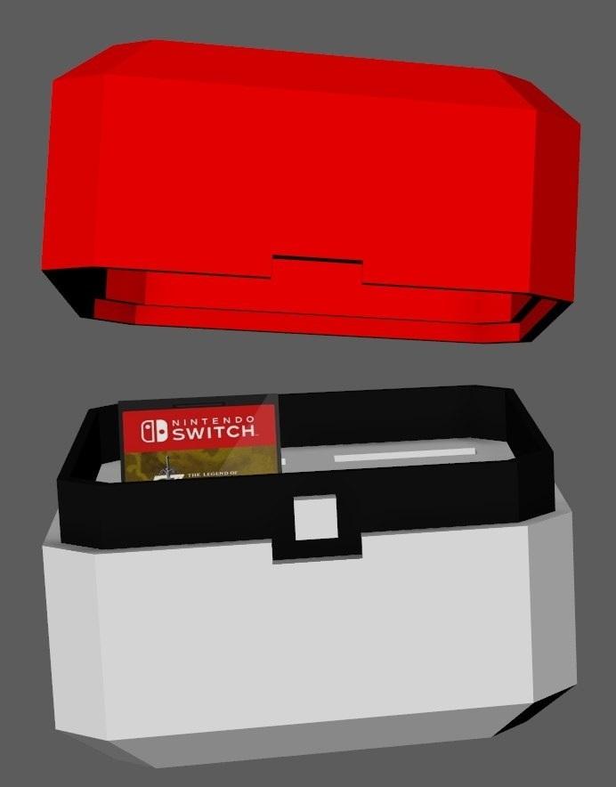 1.jpg Télécharger fichier OBJ gratuit Pokeball nintendo switch cartouches et sd • Objet pour impression 3D, Pdor