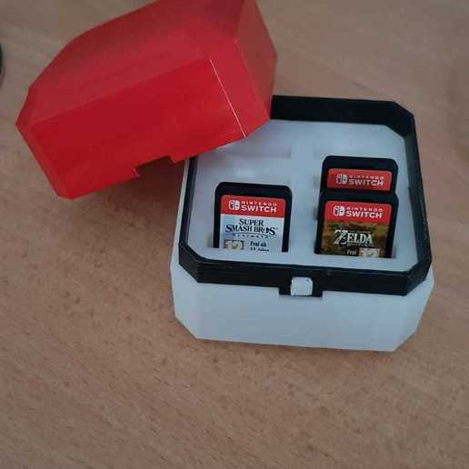Télécharger plan imprimante 3D gatuit Pokeball nintendo switch cartouches et sd, Pdor