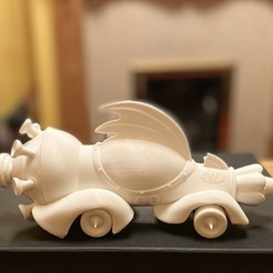 IMG_0436.jpeg Download STL file Wacky Racers Mean Machine STL • 3D printable design, romwba