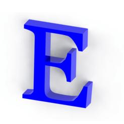 Download 3D printer templates Letter E, Lubal