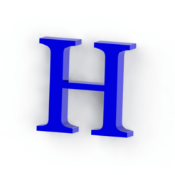 Descargar modelo 3D Letra H, Lubal
