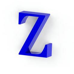 Descargar modelos 3D para imprimir Letra Z, Lubal