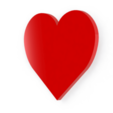 Download free 3D printing templates Heart, Lubal