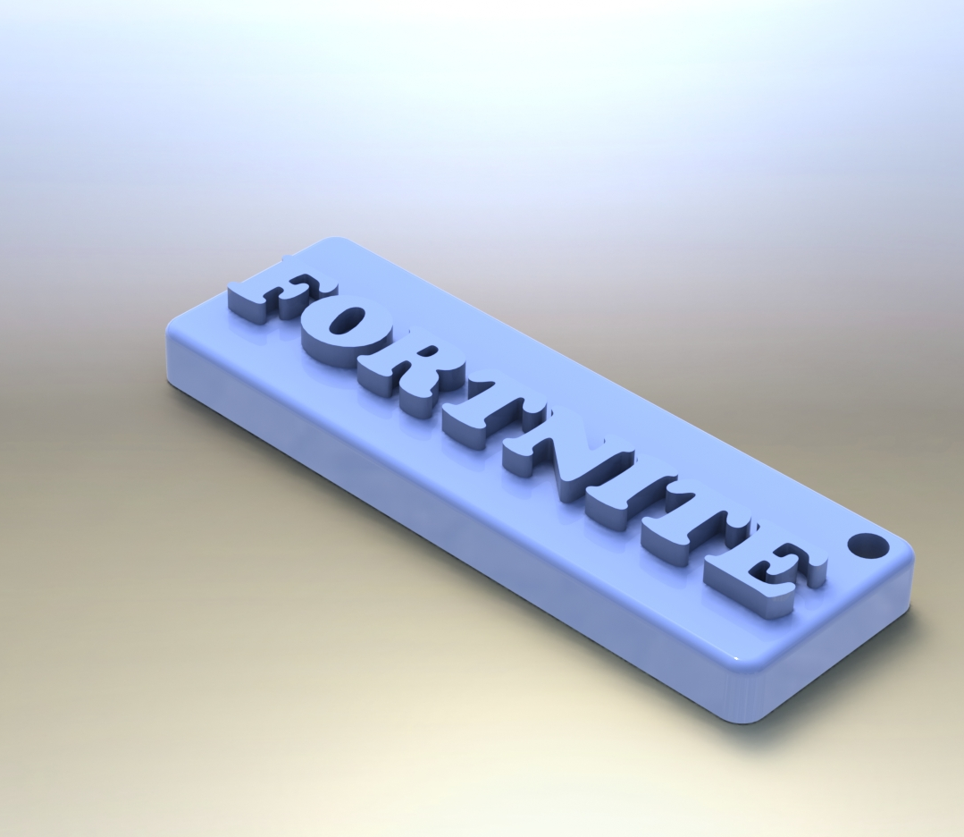 Fornite1.png Download free STL file FORTNITE key ring • Model to 3D print, Lubal