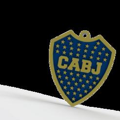 Descargar diseños 3D Llavero de Boca Juniors, Lubal