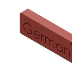 German.JPG Télécharger fichier STL gratuit Porte-clés avec noms • Modèle pour imprimante 3D, Lubal