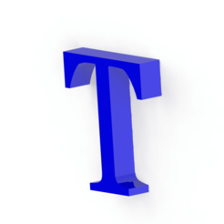 Download 3D printing files Letter T, Lubal
