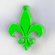 Download 3D printer templates Fleur de lis, Lubal