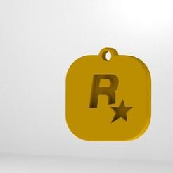 30.JPG Download STL file Rockstar Keychain • 3D print design, Lubal