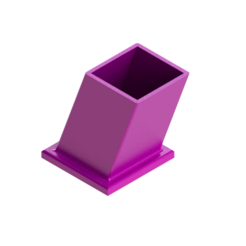 porta  lapices3.png Download free STL file Pencil holder • 3D printable template, Lubal