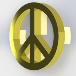 Paz 3.png Download free STL file Peace symbol • 3D printing template, Lubal