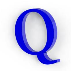Download 3D printer designs Letter Q, Lubal