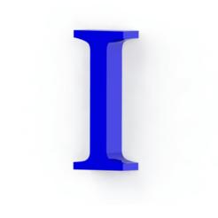 Télécharger fichier imprimante 3D Lettre I, Lubal