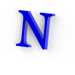 Descargar archivos STL Letra N, Lubal