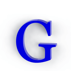 Download 3D printing designs Letter G, Lubal