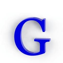 Télécharger fichier impression 3D Lettre G, Lubal