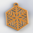 Download free 3D printing templates SNOWFLAKE, Lubal