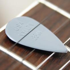 guitar-2765428_1920.jpg Download STL file Guitar pick • 3D print object, Lubal