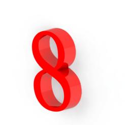 8.png Descargar archivo STL Numero 8 para decoración • Modelo para la impresión en 3D, Lubal