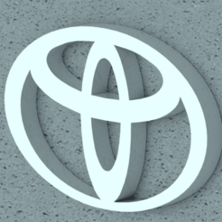 Toyota 02.png Download STL file TOYOTA Logo • 3D printable template, Lubal
