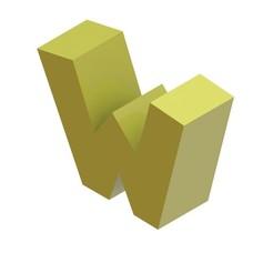 Download STL Letter W, Lubal