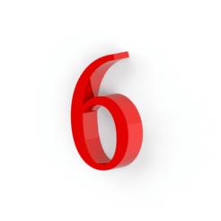 6.png Télécharger fichier STL Numéro 6 pour la décoration • Design pour imprimante 3D, Lubal