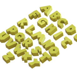 Download STL files Alphabet, Lubal