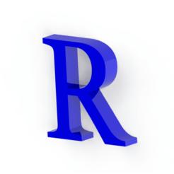 Descargar modelo 3D Letra R, Lubal