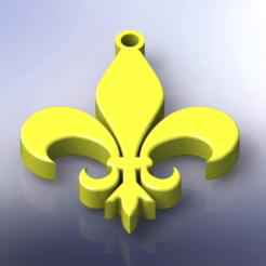 Télécharger fichier impression 3D Fleur de lis, Lubal