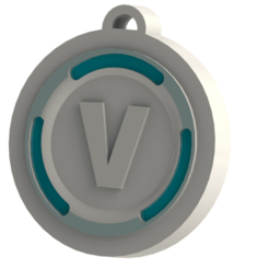 Sin título23.png Download STL file V BUCK FORTNITE Key ring • 3D print object, Lubal