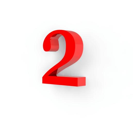 Descargar modelos 3D para imprimir Numero 2 para decoración, Lubal