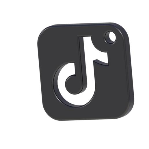 Download Stl File Tiktok Logo 3d Printing Design Cults