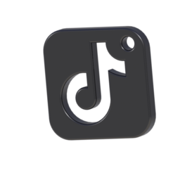 1.png Download STL file TIKTOK LOGO • 3D printing design, Lubal