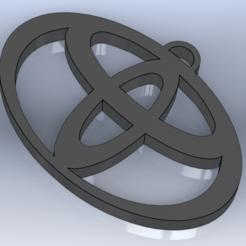 Sin título2.png Télécharger fichier STL Porte-clés TOYOTA • Design pour imprimante 3D, Lubal
