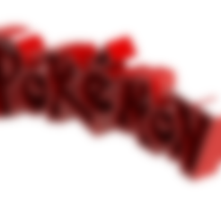 Download free 3D print files POKEMON LOGO, Lubal