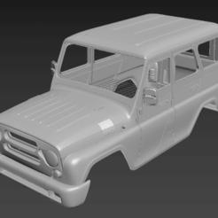 Download 3D printing models UAZ HUNTER (RC BODY), PrintYourRC